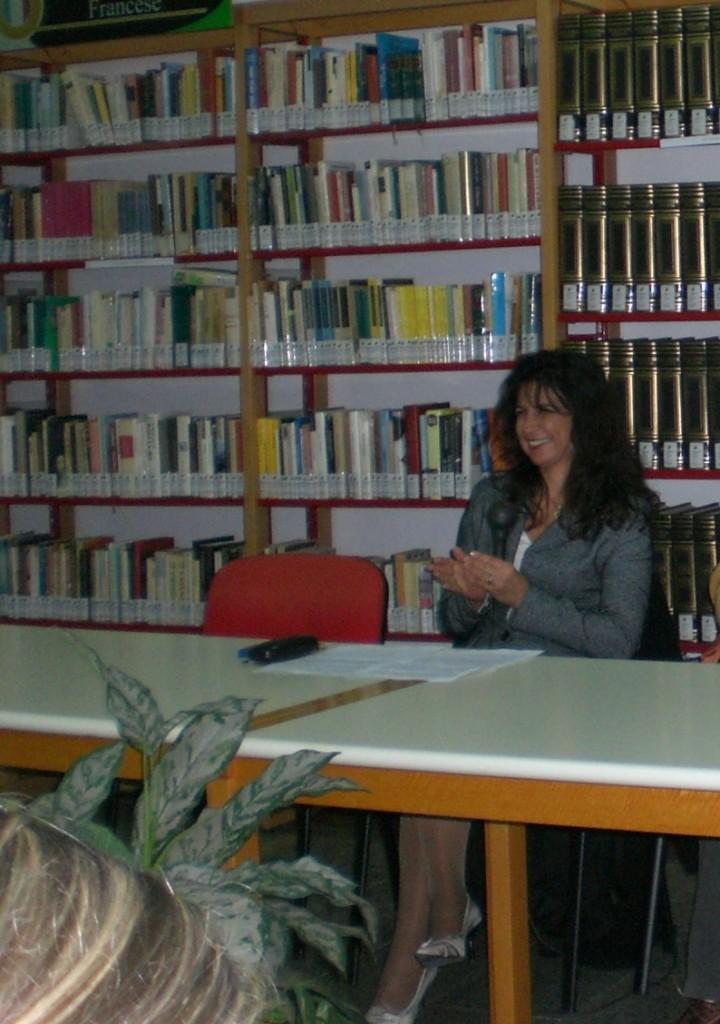 Susanna Trossero alla resentazione di un libro