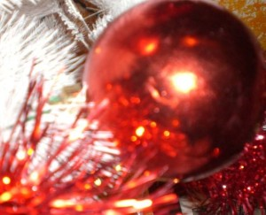 Una palla dell'albero di Natale
